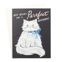 Purrfect Persian Birthday Card