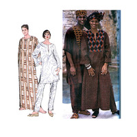 Men's Women's CAFTAN DASHIKI TOP & Pants Pattern with Hat and Headwrap Pattern Simplicity 8895 Adult Sewing Patterns UNCuT Size Large XLarge