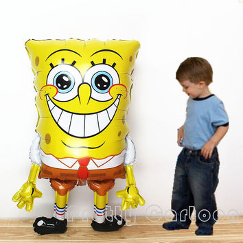 Giant 40 Inch Sponge Bob aluminium foil balloons and for spongebob party decor supplies inflatable helium balloon