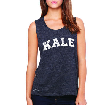 Zexpa Apparel™ Kale W University Gift for Vegetarian Women's Muscle Tee Vegan Fun Sleeveless