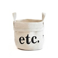 "Canvas Bucket - ""Etc"""