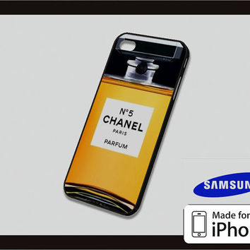 Yellow Chanel Parfume Case for iPhone 4/4s iPhone 5/5c and Samsung Galaxy S3/S4