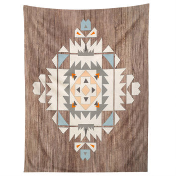 Iveta Abolina Cream Tribal Tapestry