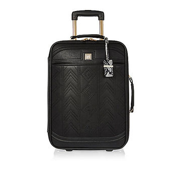 Black embroidered suitcase - luggage - bags / purses - women