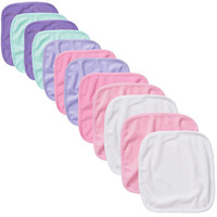 Koala Baby Girls Washcloths 12 Pack - Pink/Purple