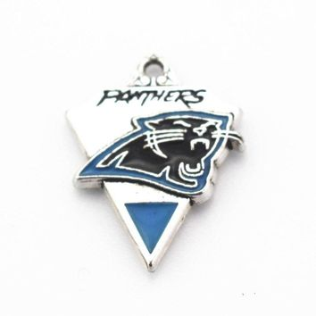 New style 20pcs/lot football team Sports Carolina Panthers Silver Ally sports Dangle charms For Necklace Pendant Diy Jewelry