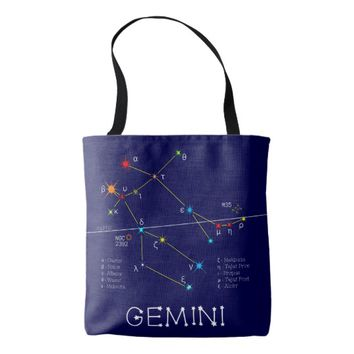 Constellation GEMINI unique, elegant Tote Bag