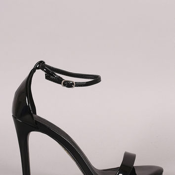 Patent Ankle Strap Open Toe Stiletto Heel