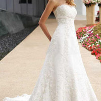 A-line Floor-Length Wedding Dress