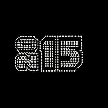 2015 Block Rhinestone Transfer Iron On DIY Bling 34211