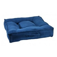 MicroVelvet Square Piazza Dog Bed — Cobalt