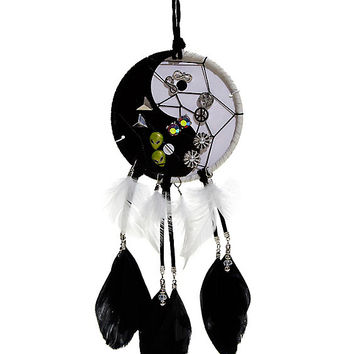 Yin-Yang Dreamcatcher And Alien Stud Earring 6 Pair Set