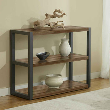 Open Low Bookcase in Walnut (Walnut) (31H x 39W x 16D)