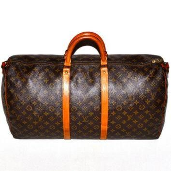 DCCK Make an Offer LOUIS VUITTON Keepall 55 Duffel Bag Large LV Monogram Weekend Travel Car