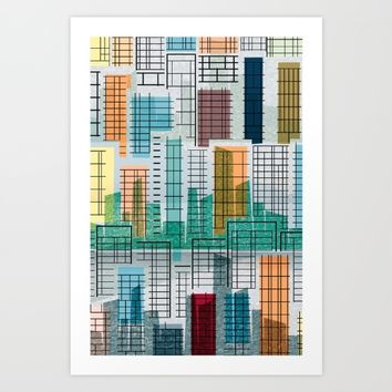 Crowded houses Art Print by inkycubans