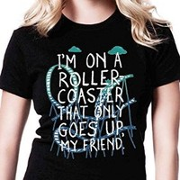 Im on a Roller Coster TVC Tshirt for Women Black and White