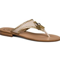Alana Sandal in Bone and Gold by Jack Rogers - FINAL SALE