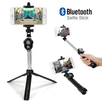 Foldable Selfie Stick Self Bluetooth Selfie Stick+Tripod+