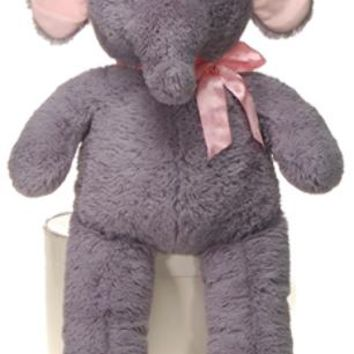"""32"""" cuddle elephant with pink ribbon Case of 9"""