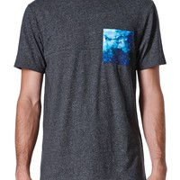 On The Byas Jimmy Cosmic Pocket Crew T-Shirt - Mens Tee - Gray