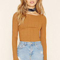 Ribbed Y-Back Crop Top