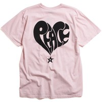 Peace Pigment Dyed T-Shirt Blush