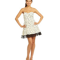 Teeze Me Strapless Polka-Dot Dress | Dillard's Mobile