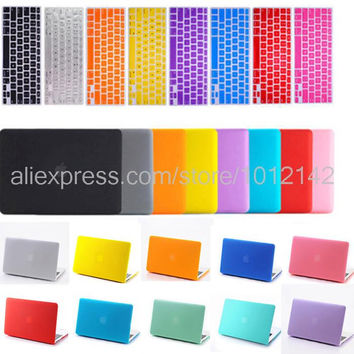 "freeship 2in1 Christmas gift Crystal Matte hard cover case keyboard skin for 11"" 12"" 13"" 15"" apple mac macbook air pro retina"