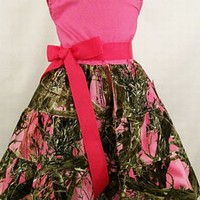 Pink Camo Jumper Dress, Handmade Dress, USA, #12