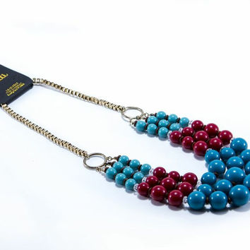 Blue Trifecta Necklace
