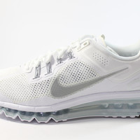 Nike Men's Air Max 2013 White/Wolf Grey Running Shoes 554886 100
