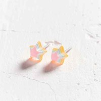 Neon Rainbow Star Post Earring - Urban Outfitters