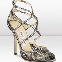Jimmy Choo Anthracite Crystal Mesh Sandal - $206.00