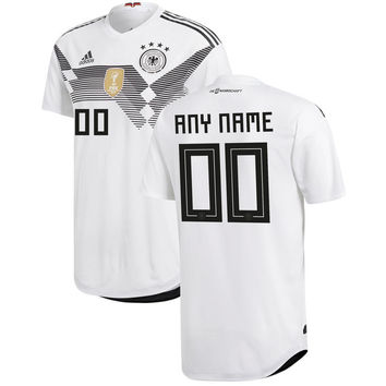 Germany National Team Soccer 2018-2019 Home Blank Custom Jersey - White