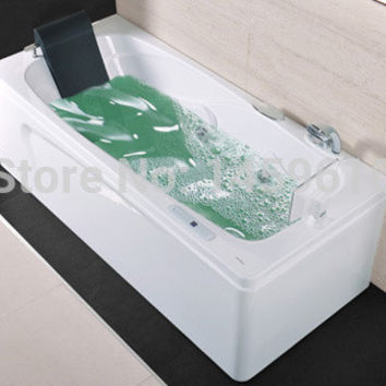 67' Sea Shipping Left Head Rest Surfing Bathtub Acrylic Whirlpool Tub Piscine W/ Tv Massage Hot Tub W4003
