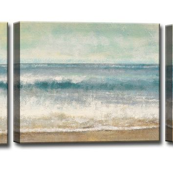 Ready2HangArt Beach Memories Canvas Wall Art - Set of 3 - Wall Art at Hayneedle