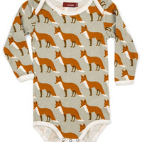 ZEBI Baby LONG SLEEVE One Piece Orange Fox