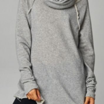 12PM by Mon Ami Cowl Neck Sweatshirt