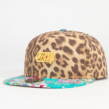 Official Cheetah Floral Mens Snapback Hat Multi One Size For Men 23267395701