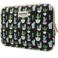 Dachee Colorful Cactus Patten Laptop Sleeve 13 Inch Macbook Air 13 Case Macbook Pro 13 Sleeve and 13.3 Inch Laptop Bag