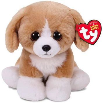 Ty® Beanie Babies Franklin Brown Dog Stuffed Animal, 6""