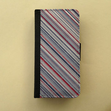 Vintage stripes wallet case, phone case, iPhone 4/5 case Samsung Galaxy S3 S4, iPhone wallet, book style, flip case, gifts for her