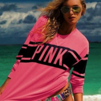Victoria's secret PINK Casual Long Sleeve Crop Top Sweater Pullover