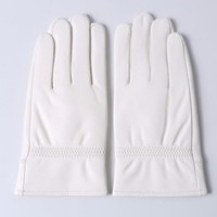 Svadilfari 2017 Fashion Special Offer Genuine Leather White Gloves Women Solid Wrist Buttons Female Lambskin Driving Glove