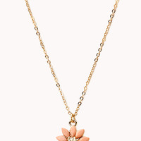 Sunburst Floral Pendant Necklace