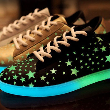 Womens Trendy Glow In The Dark Casual Sneakers