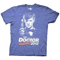 Doctor Who The Doctor 2012 Navy T-Shirt - Ripple Junction - Doctor Who - T-Shirts at Entertainment Earth