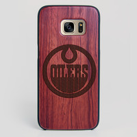 Edmonton Oilers Galaxy S7 Edge Case - All Wood Everything