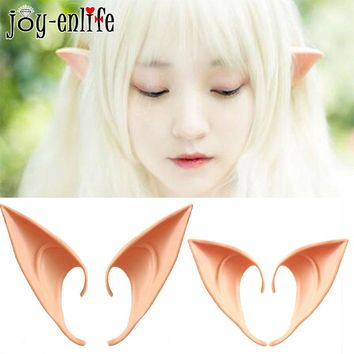 1 Pair Elves Ears Halloween Party Cosplay Decorations Fairy Ears Latex Fake Ears Christmas 2019 New Year Party Costume Dress Up