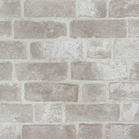 Brick Wallpaper in Ivory design by York Wallcoverings